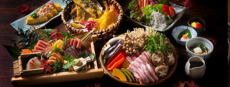 秋野菜たっぷり<br>蒸し豚味噌陶板