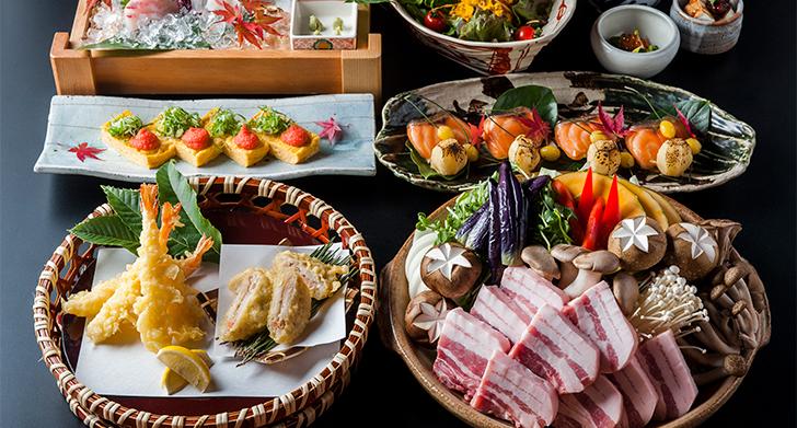 秋野菜と豚味噌陶板